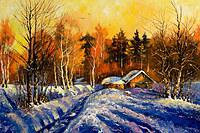 Tablou canvas iarna (28)
