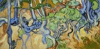 tablou van gogh - tree roots, 1890
