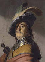 tablou rembrandt - portret man in a beret (1626)
