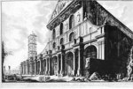 tablou piranesi - roma antica, alb negru 08