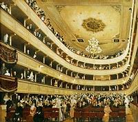 tablou Gustav Klimt - interer old city theater (1888)
