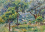 tablou renoir - the village at cagnes, view from the terrace of collettes