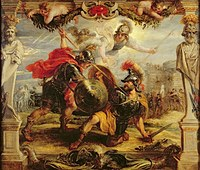 tablou rubens - achilles victory over hector (1632)