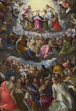 tablou johann rottenhammer - the coronation of the virgin