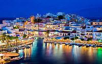tablou noapte in creta, grecia (1)