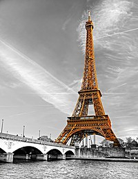 tablou Turnul Eiffel, Paris, bicolor (1)