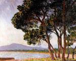 Tablou canvas claude monet - beach in juan les pins, 1888