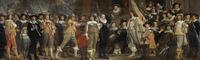 tablou bartholomeus van der helst - the company of captain roelof bicker and lieutenant jan michielsz blaeuw, 1639