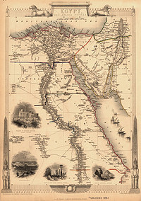 tablou harta antica egipt, 1851