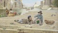 Tablou canvas antonio ermolao paoletti - the melon sellers