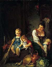 tablou francois boucher - mother with childrens