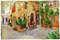 tablou creta,  grecia, vintage (1)