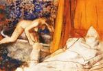 tablou 1890  edgar degas - le bain
