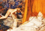 Tablou canvas 1890  edgar degas - le bain