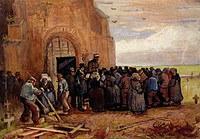 Tablou canvas van gogh - sale of building scrap