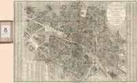 tablou nouveau plan de paris, 1823