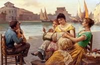 tablou antonio ermolao paoletti - venetian lacemakers
