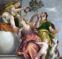 tablou paolo veronese - allegory of love happy union