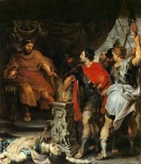 tablou rubens - muzio scaevola and etruscan