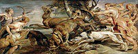 Tablou canvas rubens - hunting diana (1628)