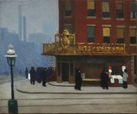 Tablou canvas edward hopper - new york corner, 1913