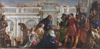 tablou paolo veronese - the family of darius before alexander, 1570