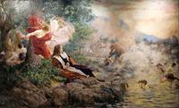tablou vlaho bukovac - gundulic's dream (1894)