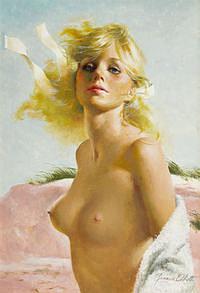 tablou nud, ilustratie (297)