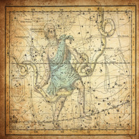 tablou star constellation, astrology map, 1820 (6)