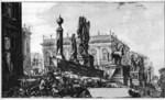 tablou piranesi - roma antica, alb negru 30