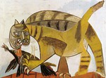 tablou picasso- cat devouring a bird [1939]