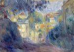 tablou renoir - landscape with red roofs