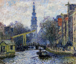 Tablou canvas claude monet   canal in amsterdam, 1874