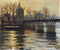 tablou marcel dyf - pont des arts