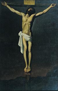 tablou francisco de zurbaran - crucifixion (1655)