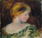 Tablou canvas Renoir - bust of a young woman
