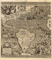 tablou map of the western hemisphere, 1562