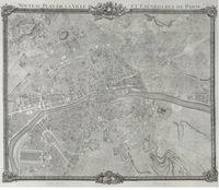 tablou harta antica paris, 1775
