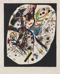 tablou wassily kandinsky - small worlds iii, 1922