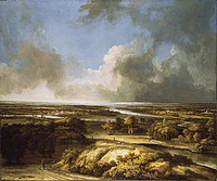 tablou philips koninck - panoramic landscape (1665)