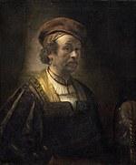 tablou rembrandt - self portrait (1650)