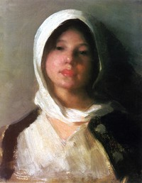 tablou nicolae grigorescu - taranca (2)