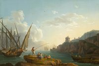 tablou jacob philipp hackert - coastal landscape near vietri (1776)