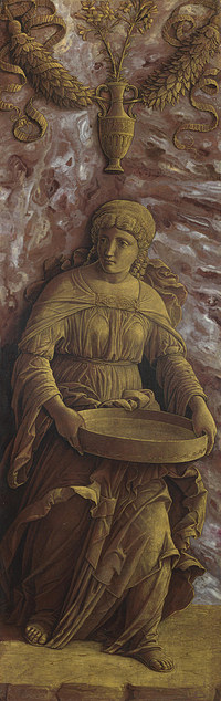 tablou andrea mantegna - the vestal virgin tuccia with a sieve