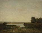 tablou theodore rousseau - river scene