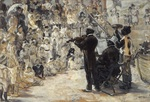 tablou jean francois raffaelli, french - the minstrels