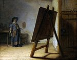 tablou rembrandt - hudozhnik in his studio (1626)