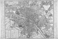 tablou harta antica paris, 1760