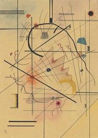 tablou kandinsky - dunner druck, 1922