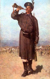 tablou nicolae grigorescu -  gornistul